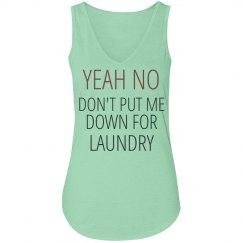 No laundry