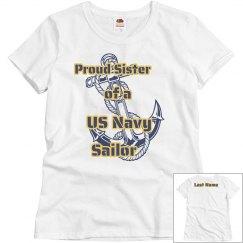 Navy Sister Shirt w/ LN