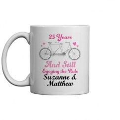 25th Anniversary Couples Gift Mug