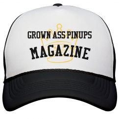 GROWN ASS PINUPS MAGAZINE CROWN TRUCKER SNAPBACK HAT