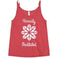Heavily Meditated Funny Yoga Slouchy Yogi Tank