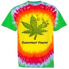 Swamprat Farms tie dye t-shirt