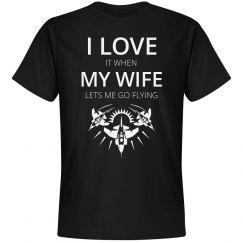 Love flying love my wife