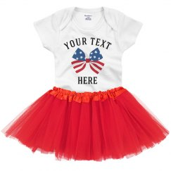 Create Your Own Flag Bow Onesie