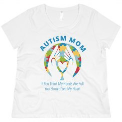 Plus Size Autism Mom Full Hearts