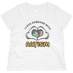 I Love Someone Autism Mom Plus Size