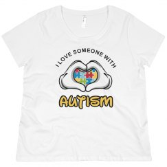I Love Someone Autism Mom Plus Size