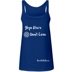 Yoga Hair Don't Care Logo Tank