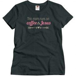 Coffee & Jesus(charcoal pink)
