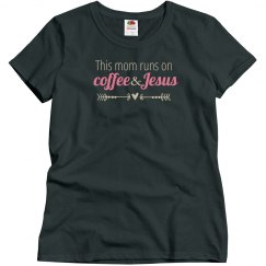 Coffee & Jesus(charcoal pink)