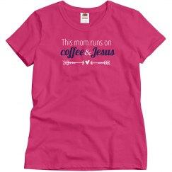 Coffee & Jesus(raspberry navy)