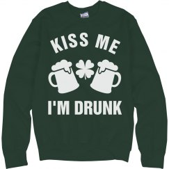 Kiss Me I'm Drunk Green Beer