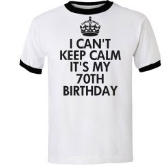 It's my 70th birthday