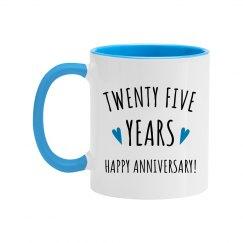 Happy 25 Years Coffee Mug