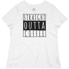 Straight Outta Coffee Plus Tee