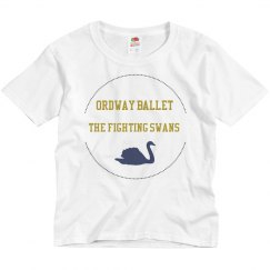 Youth fighting swans tee
