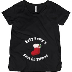 Baby Bump's First Christmas Maternity Top