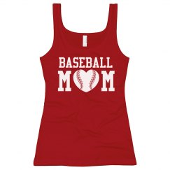 Heart Shaped Baseball Mom Tank