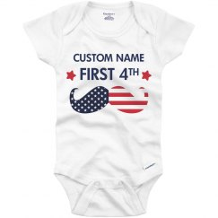 Custom My First Fourth Onesie
