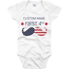 Custom My First Fourth Onesie