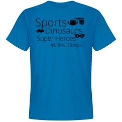 Sports, Dinos, Superheros