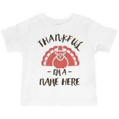 Thankful Custom Family Name Turkey