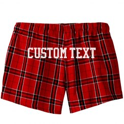 Custom Plaid Flannel Pajama Shorts