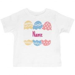 Custom Name Easter Toddler Tee