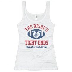Funny Football Bachelorette Party Bridesmaid Tank