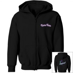 Girls i2m Competition Dance Team Logo Zip Up Hoodie
