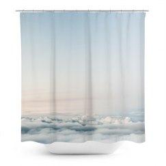 Sky Print Trendy Shower Curtain