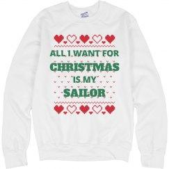 I want my sailor for christmas