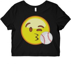 Emoji Baseball Crop Top