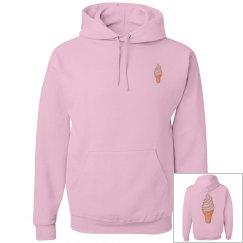Skim sister pink hoodie
