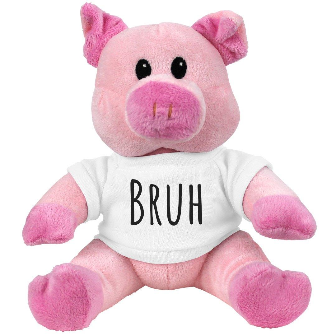 BRUH Pink Piggie Stuffed Animal