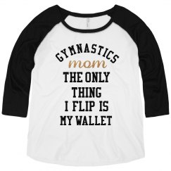 Metallic Gymnastics Mom Raglan
