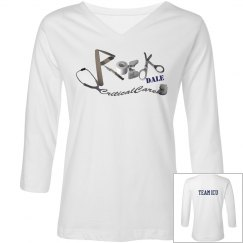 3/4 LENGTH WHITE WOMENS TSHIRT