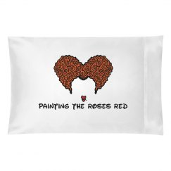 Painting the roses red pillow case