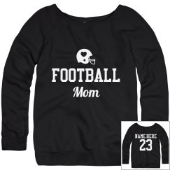 Football Mom Sweater with Custom Name Number