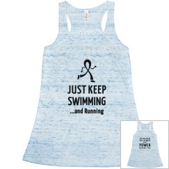 Just keep swimming...and Running - Back design