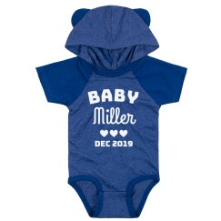 Custom Baby Announcement Last Name Cute Bodysuit
