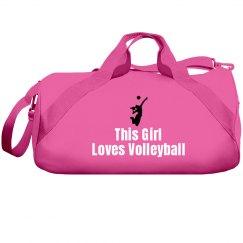 Girl loves volleyball