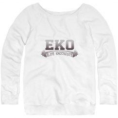 Women's wide neck EKO sweatshirt