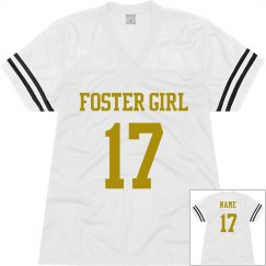 Foster Girl White Football Jersey 1