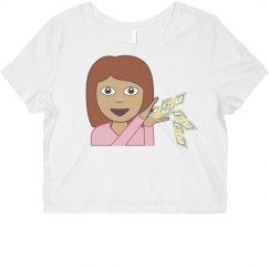 Money Emoji Crop Top