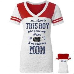 Hockey Mom Distress t-shirt