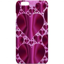 Fuschia & Pink Hearts