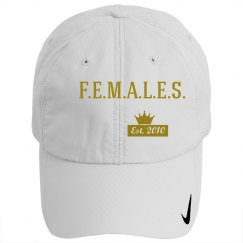 Females basic cap gold & white