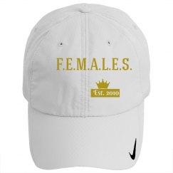 Females basic cap gold & white