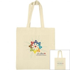 "Canvas Tote Beige  ""Love Heals"""